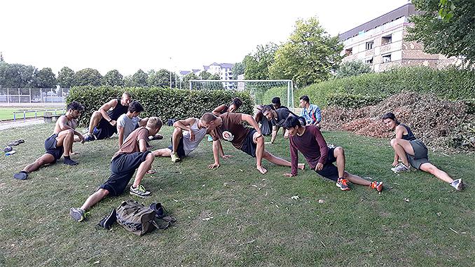 FC St. Pauli Boxen Cololdown nach lauftraining