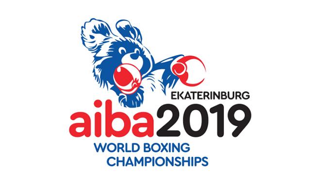 Logo der Weltmeisterschaft im Olympischen Boxen in Russland 2019